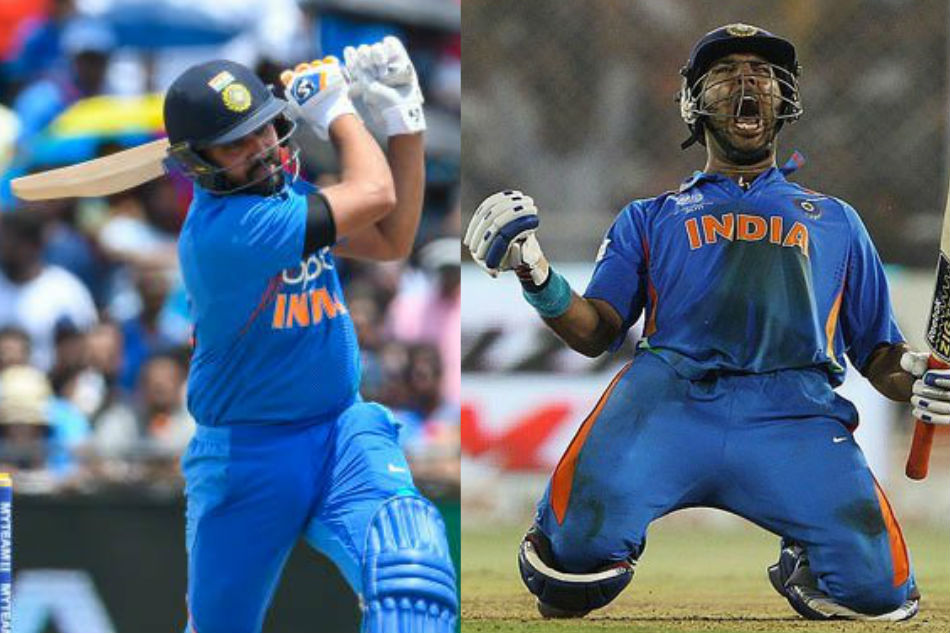Rohit Sharma on the cusp of overtaking Yuvraj Singh in elite list