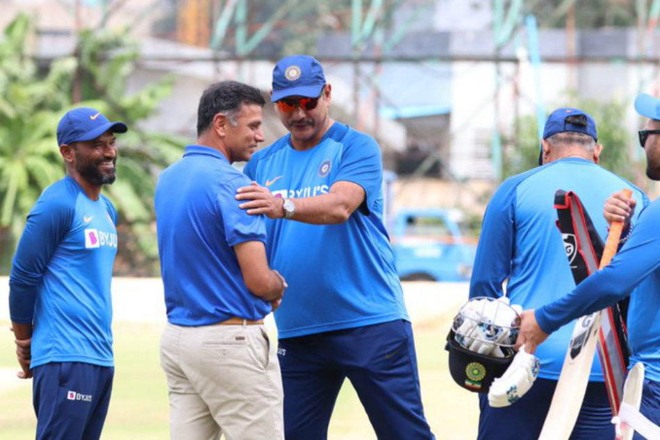 Rahul Dravid and Ravi Shastri: Photo Trolled