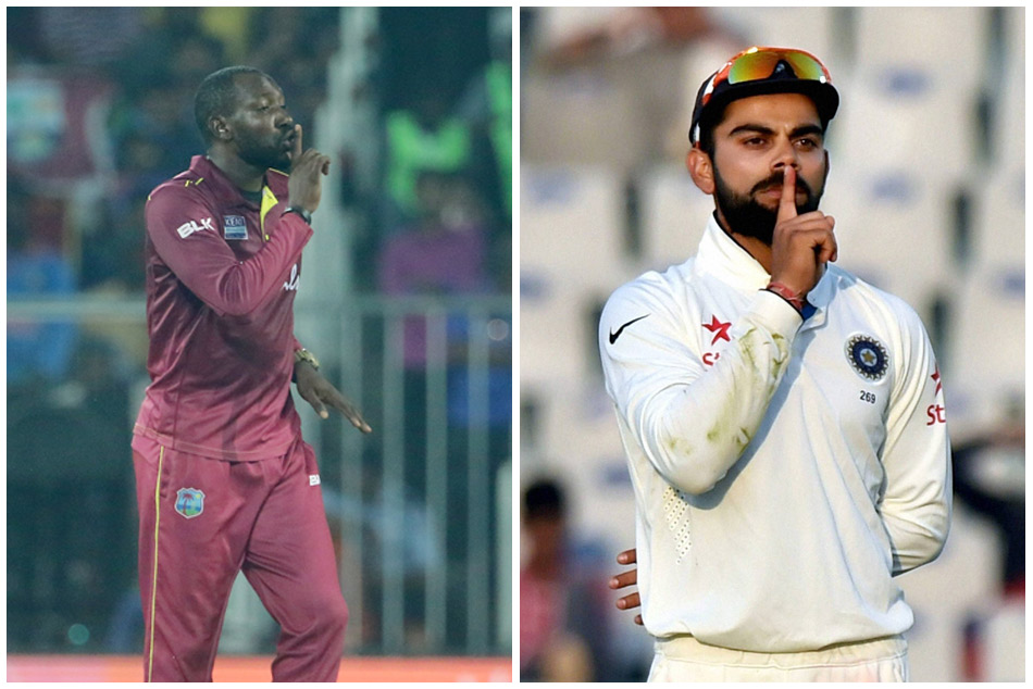 Kesrick Williams Does Shush Gesture After Dismissing Virat Kohli