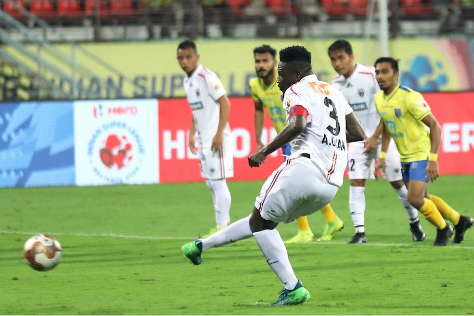 ISL-2019: Kerala, NorthEast Take Point With Penalties