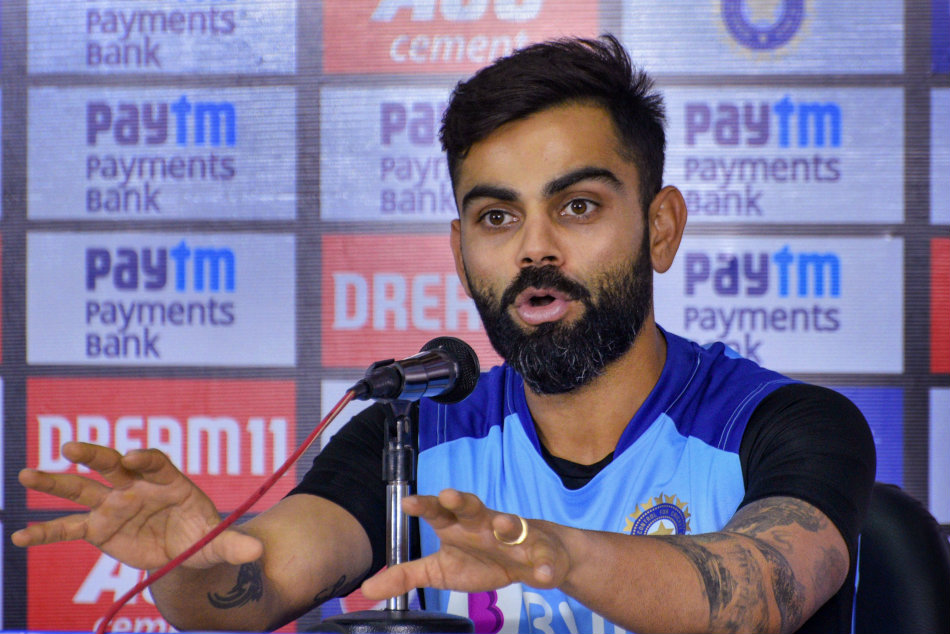 If you field like that no total is good enough; kohli