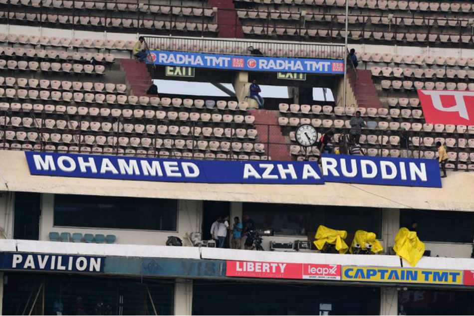 Mohammad Azharuddin stand to be inaugurated before 1st Ind-WI T20I