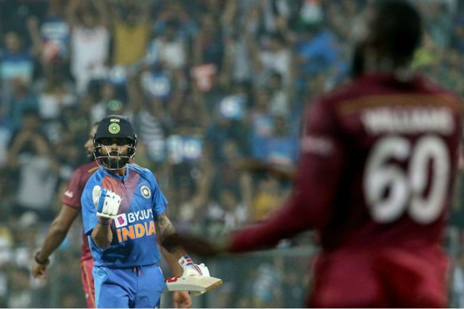 Virat Kohli smashes Kesrick Williams for six, gives animated reaction