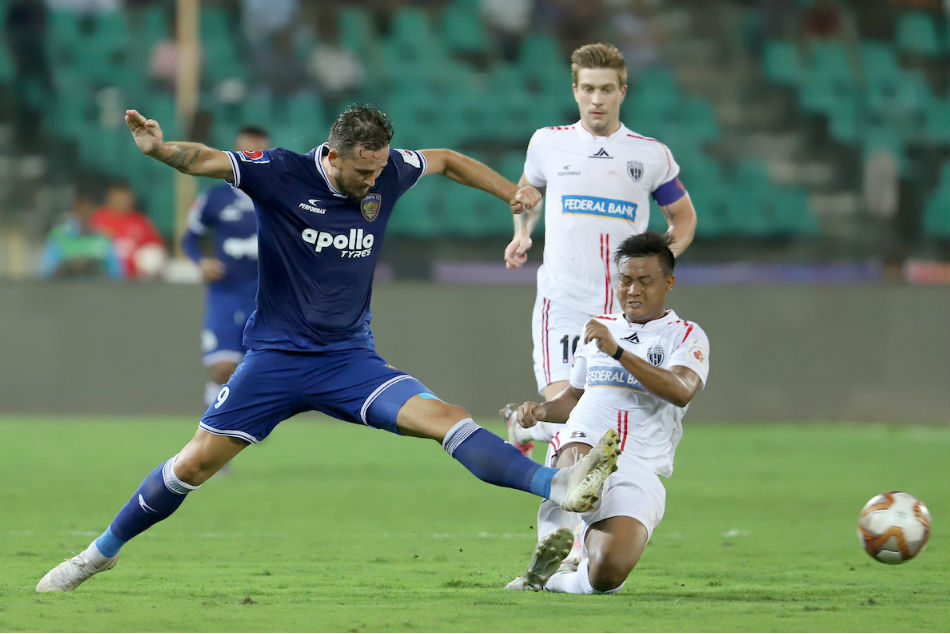 ISL: Chennaiyin hunt down NorthEast to move up to sixth