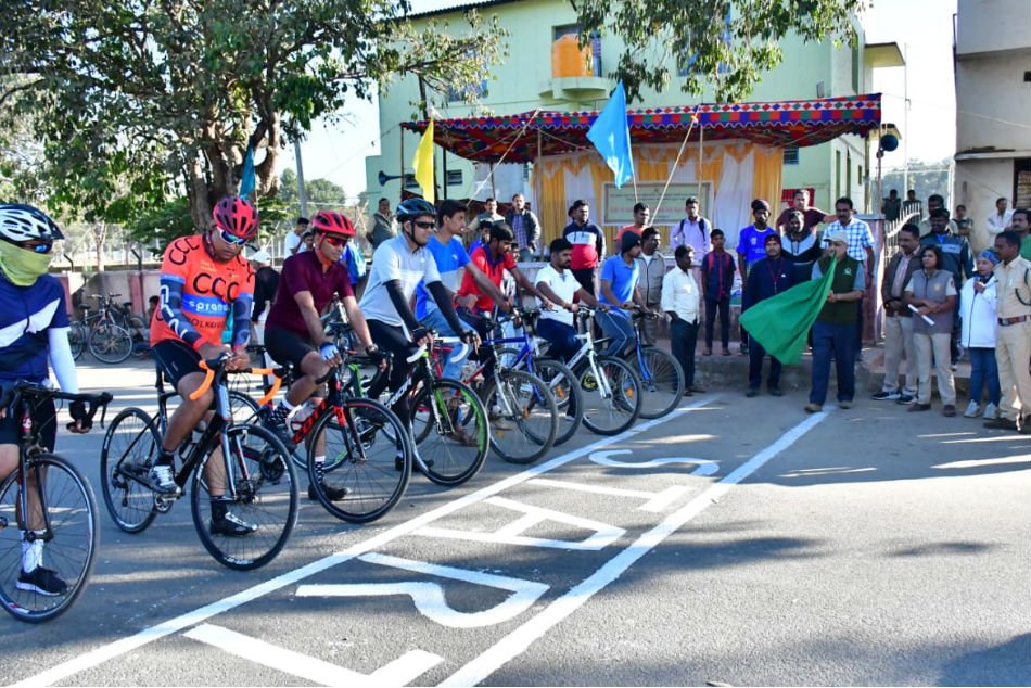 Cycle race conducted in chikamagaluru district