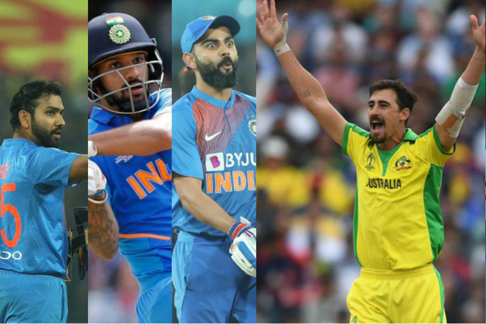 Mitchell Starc vs Rohit Sharma, Shikhar Dhawan, Virat Kohli, interesting facts
