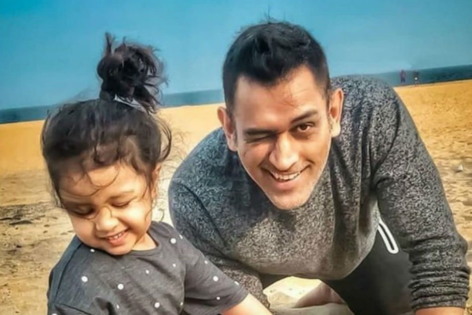 Sakshi Dhoni captures Dhoni taking Ziva on a bike ride