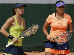 French Open Sania Martina Crash Out Of Women S Doubles
