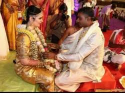 In Pics Abhimanyu Mithun Marries Rayane Raadhika Sarathkumar Daughter