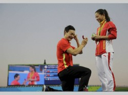 Love At Rio Olympics Silver Diamond Chinese Divers Get Engaged