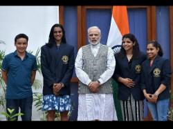 President Pranab Mukherjee Confers Khel Ratna Sindhu Sakshi Dipa Jitu