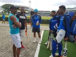 India Vs West Indies Dwayne Bravo Pays Surprise Visit Team India