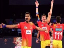 Pro Kabaddi Gujarat Fortunegiants Enter Final Thrash Bengal Warriors 42