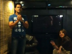 Dhoni Dance For His Wife Sakshi