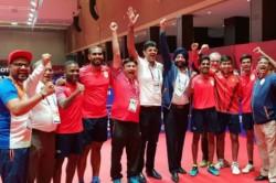 Asian Games 2018 Indian Men S Table Tennis Team Won Bronze