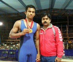 Young Wrestler Vikas Gowda Died Dawangere Today