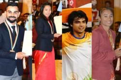 Virat Kohli Lifter Mirabai Chanu Bask Khel Ratna Glory