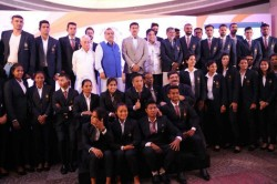 Cheque Without Check Ioa Bloopers Mar Asian Games Felicitation Ceremony