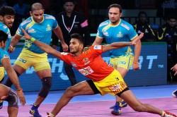Pro Kabaddi Gujarat Fortunegiants Beat Tamil Thalaivas 36 2 In Patna
