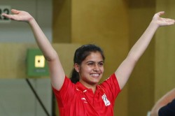 Youth Olympics Bhaker Claims Shooting Gold 10m Air Pistol Event
