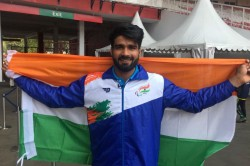 Javelin Thrower Sandeep Wins India S First Gold At Asian Para Games