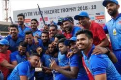 Vijay Hazare Trophy Final Mumbai Win Four Wickets