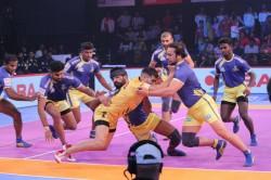 Pro Kabaddi 2018 Tamil Thalaivas Beat Telugu Titans