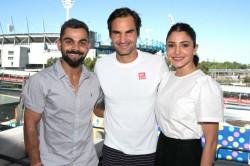 Kohli Meets Federer On The Sidelines Australian Open Melbourne