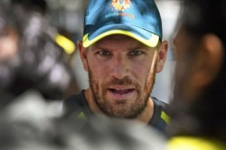 Watch Aaron Finch Destroys Chair After Suffering Unfortunat Run Out