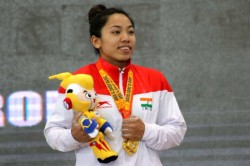 Returning From Injury Mirabai Chanu Wins Gold First Competitive Meet