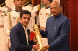 Gautam Gambhir Sunil Chhetri Receive Padma Awards