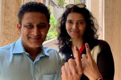 Former Indian Cricketer Anil Kumble Casts His Vote