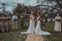 Australia S Nicola Hancock And New Zealand S Hayley Jensen Enter The Wedlock