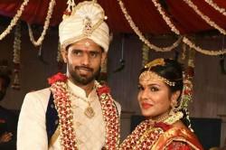 Photo Team India Cricketer Hanuma Vihari Marries Preeti