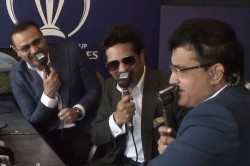 World Cup Tendulkar Sehwag And Ganguly Reunite In Commentary Box