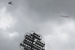 Icc World Cup 2019 Anti India Banner Flies Above During India Sri Lanka Match