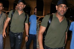 Ms Dhoni Spotted Jaipur Airport In New Style