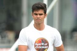 Sachin S Son Arjun Tendulkar In Mumbai S Vizzy Trophy Squad
