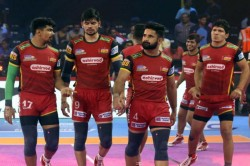 Pro Kabaddi 2019 Bengaluru Bulls Lost To Up Yoddha By 33