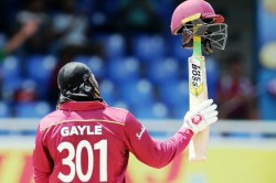 Chris Gayle Scores First Fifty Against Men In Blue In More Than 10 Years