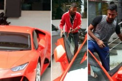 Pandya Brothers Spotted In New Orange Lamborghini