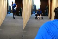 Pant And Kuldeep Practice In The Hotel Corridor Video