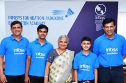 Prakash Padukone Badminton Academy Mou Infosys Foundation