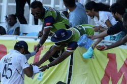 Rohit Sharma Enjoys With Dancing In Jamaica After Series Win