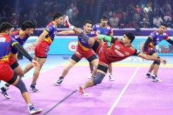 Pro Kabaddi 2019 Bengaluru Beat Up 48 45 In Extra Time