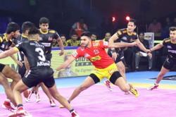 Pro Kabaddi 2019 Gujarat Fortunegiants Beat Telugu Titans