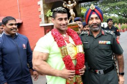 Bodybuilding Gold Medalist Anuj Kumar Comes Home To Thunderous Welcome
