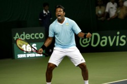Paes Betters Davis Cup Record India Secure Tie Against Pakistan