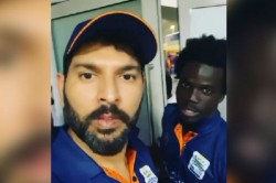 Yuvraj Singh In Splits After West Indies Cricketer Chadwick Waltom Tries Speaking Punjabi