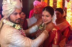 India Cricketer Gets Married To Actress Ashrita Shetty In Mumbai